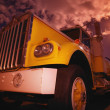 Closeup Of A Yellow Semi — Stock Photo