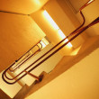 Stock Photo: View Up Through Stairwell