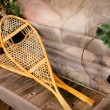 Stock Photo: Snowshoes And Old Ice Skates