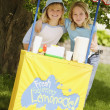 Girls' Lemonade Stand — Stock Photo