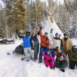 Stock Photo: Group Of People In Snow