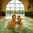 Stock Photo: Happy Couple In Hot Tub