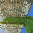 Stock Photo: Moss Growing Underneath Bridge