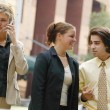 Stock Photo: Businesspeople Outside