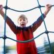 Stock Photo: Boy On Playground Ride