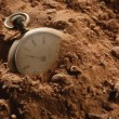 Stock Photo: Old Damaged Pocket Watch