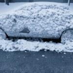 A Frozen Car — Stock Photo
