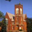 A Red Brick Church — Stock Photo