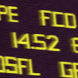 Stock Photo: Airport Flight Times Display