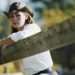 Portrait Of A Cowgirl — Stock Photo #31623647