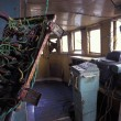Stock Photo: Interior Of Decrepit Old Boat