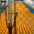 Stock Photo: Locked Up Slide At Amusement Park
