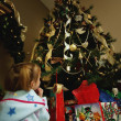 Child Waits For Christmas — Stock Photo