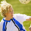 Woman With Soccer Ball — Stock Photo #31625049