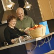 Couple Cook Together — Stock Photo