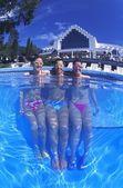 Portrait Of Three Women In Swimming Pool — Stock Photo