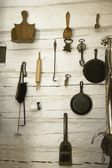 Collection Of Old-Fashioned Kitchen Utensils And Implements — Stock Photo