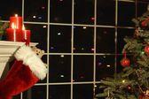 家の内部のクリスマスの装飾 — ストック写真