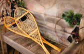 Snowshoes And Old Ice Skates — Stock Photo