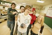 Group Goes Bowling — Stock Photo
