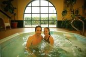 Happy Couple In Hot Tub — Stock Photo