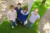 Four Young Men Hanging Out — Stock Photo