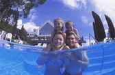 Happy Family Time In Swimming Pool — Stock Photo