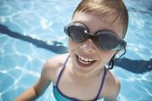 Child Wears Goggles — Stock Photo