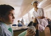 A Nurse And A Man In A Hospital — Stock Photo