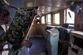 Interior Of Decrepit Old Boat — Stock Photo