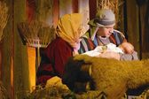 Joseph And Mary With Baby Jesus — Foto de Stock