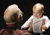 çocuk ile büyük büyük ebeveyn — Stok fotoğraf
