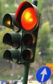 Close-Up Of Traffic Light Rome Italy — Stock Photo