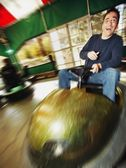 Man At Amusement Park — Stock Photo