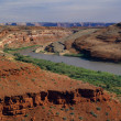 The San Juan River Winds Through A Barren Landscape — Stock Photo