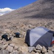 Stock Photo: Campsite In Midst Of Boulder Field