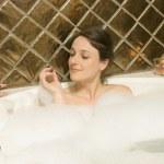 Woman In The Bath Tub — Stock Photo