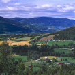 Stockfoto: NorwegiValley With Farms