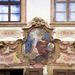 Stock Photo: Decorative Plasterwork Above Doorway, South Bohemia, Czech Republic