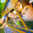 Stock Photo: Children On School Bus