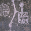 Stock Photo: Petroglyph Rock Art, Mojave Desert, California