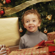 Stock Photo: Child Under Christmas Tree