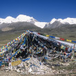 Stock Photo: TibetPrayer Flags, Damshung County, Tibet, China