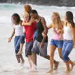 Group Of Teenagers At The Beach — Stock Photo