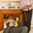 Plumber Taking Too Long To Fix Sink — Stock Photo #31679711