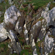 Stock Photo: Weathered Rock And Lichen