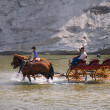 Cowboys And Buggy Crossing River — Stock Photo #31679861
