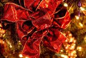 Closeup Of Christmas Bow — Stock Photo