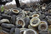 A Pile Of Tires — Stock Photo