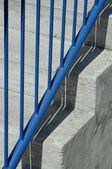 Closeup Of Stairs And Railing — Stock Photo